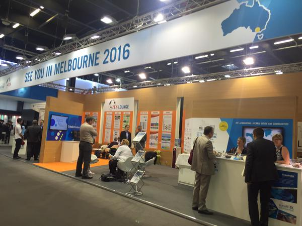 ITS Australia booth at ITS World Congress Bordeaux